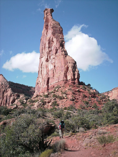 Dave G. hikes to Independence Monument