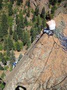Rock Climbing Photo: Sarah belays Dave G. on Crack Parallel
