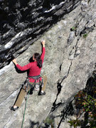 Rock Climbing Photo: Unknown climber on Metamorphasis