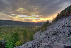 Rock Climbing Photo: Fall sunset from the East Bluff trail. October '08...