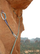 Rock Climbing Photo: Following the last few moves of an exciting pitch ...