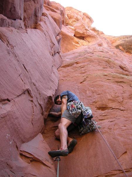 Rock Climbing Photo: John Domaska beginning the first pitch of Duck For...
