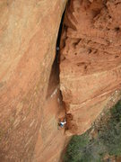 Rock Climbing Photo: John Domaska low on the incredibly fun and sustain...