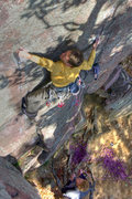 Rock Climbing Photo: Devils Lake. Henning Boldt on Thoroughfare. Octobe...