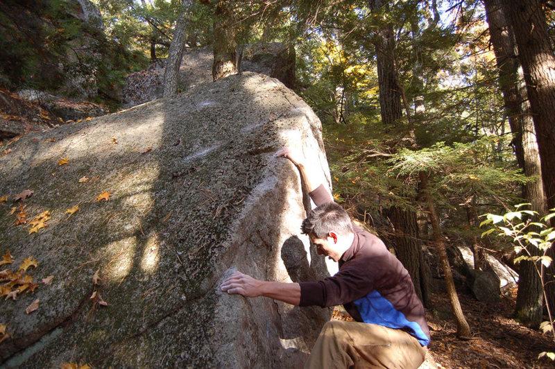 Rock Climbing Photo: Ian rides the arete.