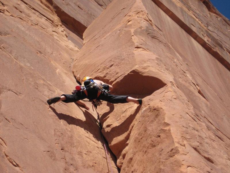 Rock Climbing Photo: Stretch.