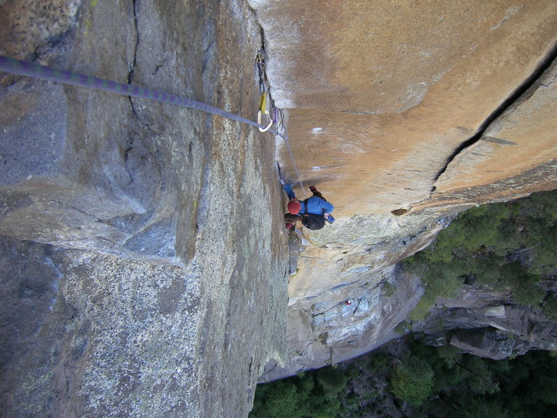 Every pitch on this climb is outstanding.  This is pitch 5.