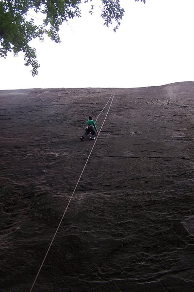 Rock Climbing Photo: Carrie top-roping the first pitch.