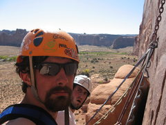 Rock Climbing Photo: me and ben on chinese eyes archs