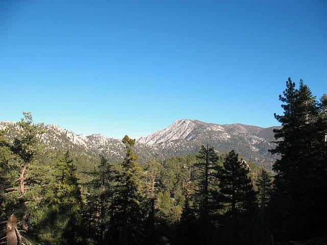 San Jacinto Peak from the edge of Boulder Basin CG, San Jacinto Mtns.