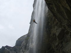 Rock Climbing Photo: The final abseil. Refreshing...