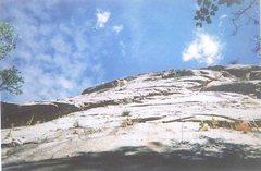 Rock Climbing Photo: Scott leading Pearl Harbor, hardly any rope drag.