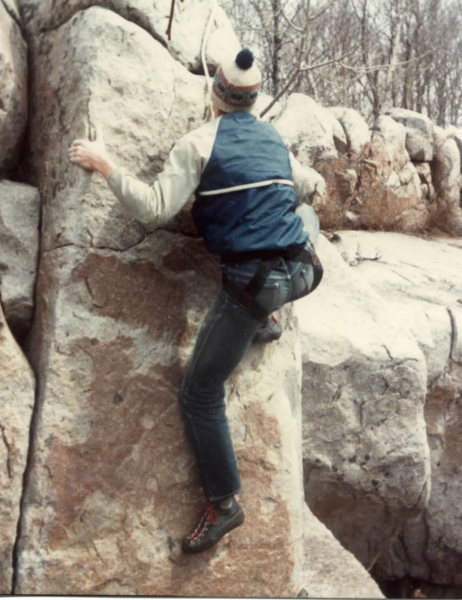 Rock Climbing Photo: Bernard Gillett on an early (likely first) ascent ...