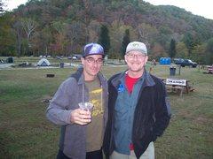 Rock Climbing Photo: Cedar Wright and me