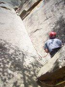 Rock Climbing Photo: Bradley Killough leadin Roadside Attraction and me...