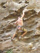 Rock Climbing Photo: Bradley K. puttin the Ro on Shampo 5.12