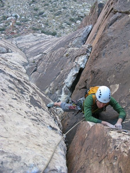 Maura on the second pitch of Schaeffer's Delight.
