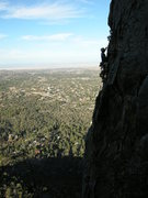 Rock Climbing Photo: Ben starting Dog Leg at Thumbe Butte