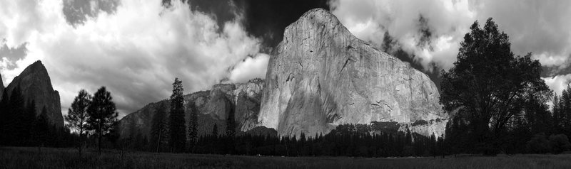 Rock Climbing Photo: Panorama from El Cap meadow