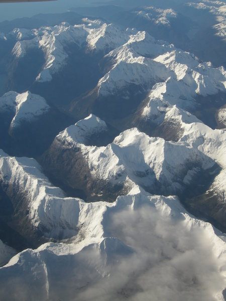 The Darrans from the air after an early winter snow fall.