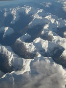 Rock Climbing Photo: The Darrans from the air after an early winter sno...