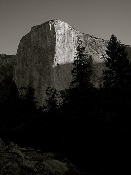 El Cap in the morning