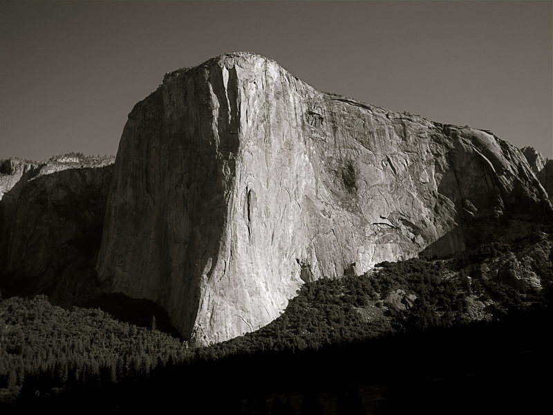 Rock Climbing Photo: View of El Cap from Middle Cathedral