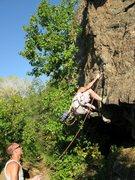 Rock Climbing Photo: Well-protected fun start.