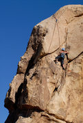 Rock Climbing Photo: A closer look at the top of Raging Intensity, in J...