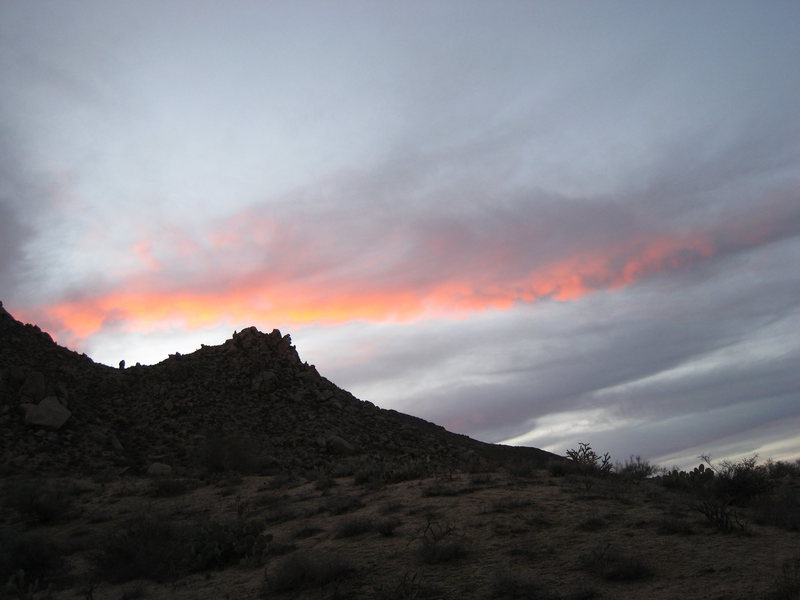 Maybe Zeus and Hera had a unicorn, and this is her tail as she runs toward the sun.<br> <br> January 2007