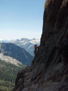 Rock Climbing Photo: Opening moves on the first pitch. Nice Views