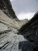 Rock Climbing Photo: The view back down the route from the final anchor...