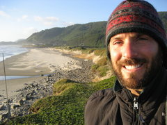 Rock Climbing Photo: Me camping on the Oregon Coast in June 08.