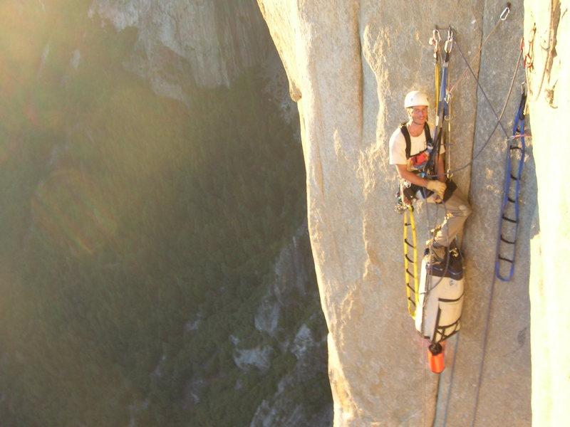 Rock Climbing Photo: Steven just below the Headwall