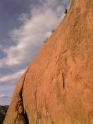 Rock Climbing Photo: Mike Houston nearing the top of the Henry the Pig ...