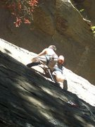 Rock Climbing Photo: Nice 5.8 lead, just right of Gumby Killer. Climber...
