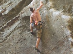 Rock Climbing Photo: Bradley Killough workin the crux on Ro...