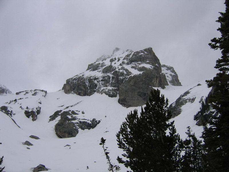 Rock Climbing Photo: Middle Teton from our base camp.