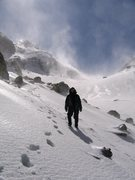 Rock Climbing Photo: Jason standing in front of Cloudveil dome/South Te...