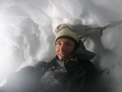 Rock Climbing Photo: In our snow cave (Tetons).