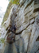 Rock Climbing Photo: Laura Smith beginning Simple Suff's not-so-simple ...