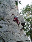 Rock Climbing Photo: Just below the crux.