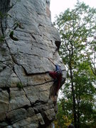Rock Climbing Photo: The first hard move.