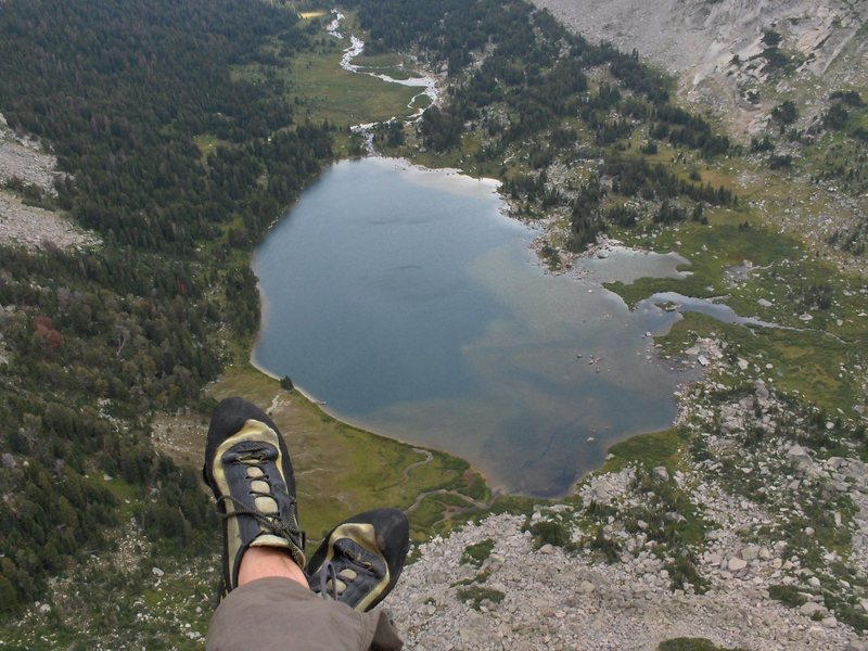 Rock Climbing Photo: High on the NE Face of Pingora.  These were the wr...