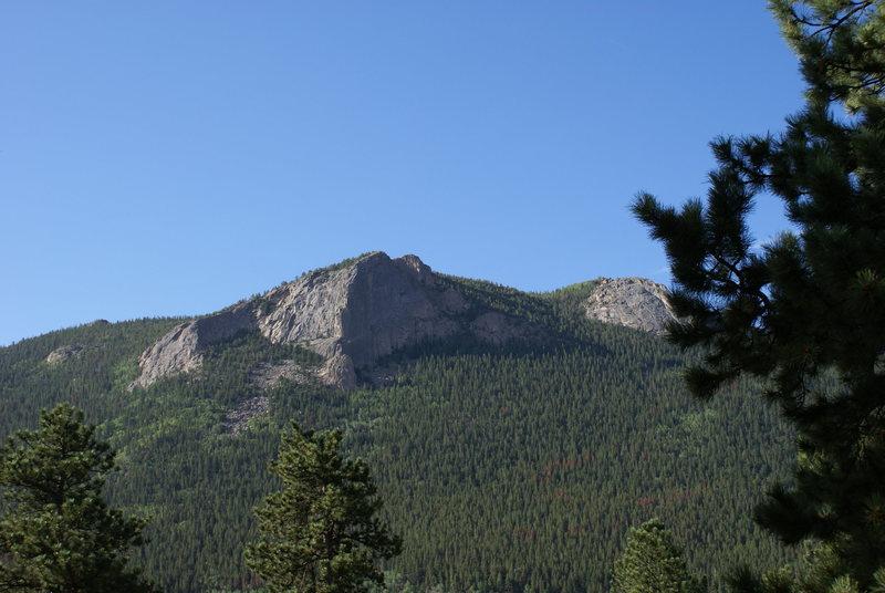 Rock Climbing Photo: Deer Ridge Buttress from campground across Fall Ri...