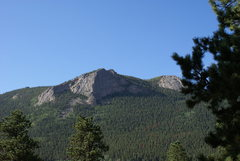 Deer Ridge Buttress from campground across Fall River Road.