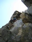 Rock Climbing Photo: Me climbing in CA.