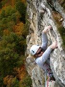 Rock Climbing Photo: Johanna bustin' moves on Madame G's, Fall 2008.