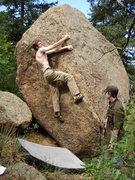 Rock Climbing Photo: Willo on the problem.