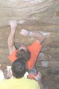Rock Climbing Photo: Jesse Bonin makin it happen on Slider.